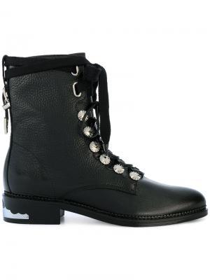 Ботинки на шнуровке Toga Pulla. Цвет: чёрный