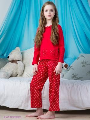 Пижама Lowry. Цвет: красный