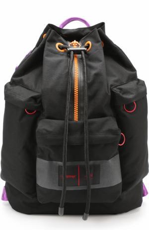 Текстильный рюкзак с контрастной отделкой Ami. Цвет: черный