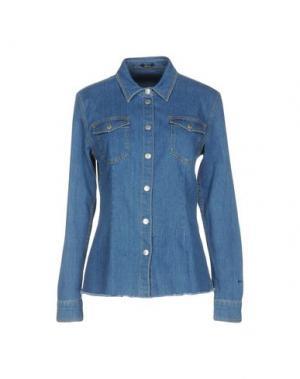 Джинсовая рубашка DENHAM. Цвет: синий