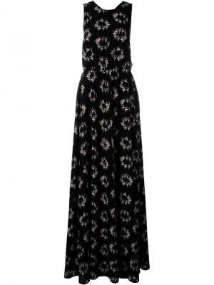 Платье с принтом балерин Rochas. Цвет: чёрный