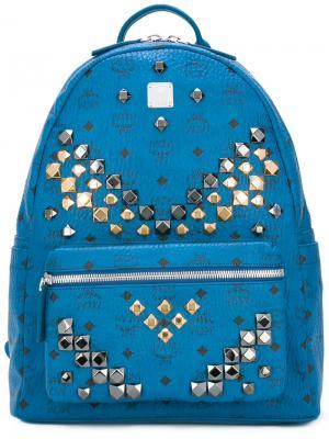 Рюкзак с заклепками MCM. Цвет: синий