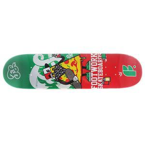 Дека для скейтборда  Original Crispy 31.3 x 7.87 (19.9 см) Footwork. Цвет: зеленый,красный
