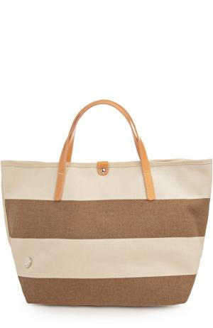 Пляжная сумка Bonfanti. Цвет: темно-бежевый