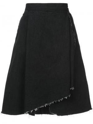 Юбка с асимметричным необработанным подолом Harvey Faircloth. Цвет: чёрный