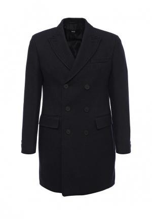 Пальто Boss. Цвет: синий