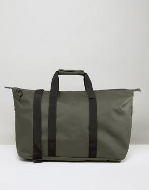 Rains Дорожная сумка цвета хаки. Цвет: зеленый