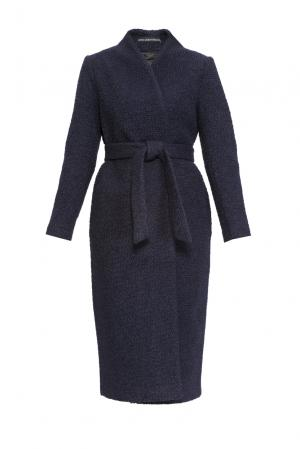 Пальто из шерсти с поясом 161019 Anna Dubovitskaya. Цвет: синий