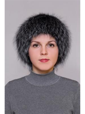 Шапка Slava Furs. Цвет: антрацитовый, серый