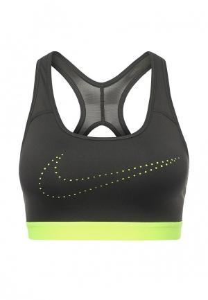 Топ спортивный Nike. Цвет: хаки