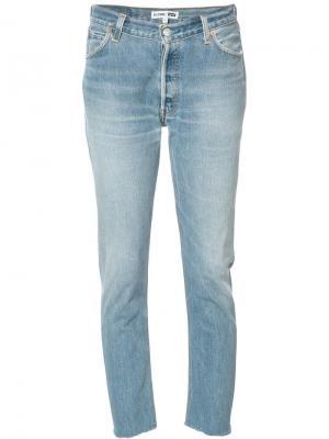 Укороченные джинсы свободного кроя Re/Done. Цвет: синий