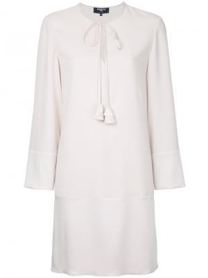 Платье мини с длинными рукавами Paule Ka. Цвет: телесный