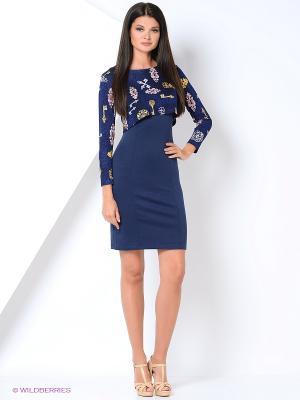 Костюм (платье+жакет) FEST. Цвет: синий, желтый