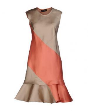 Короткое платье OSTWALD HELGASON. Цвет: бежевый