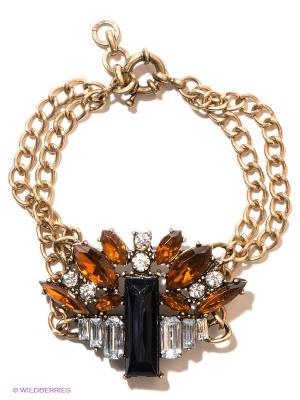 Браслет Milana Style. Цвет: коричневый, золотистый, черный