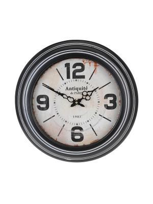 Часы настенные Antiquete de Paris на белом круглые (45 см) NAST236 Mitya Veselkov. Цвет: черный, белый