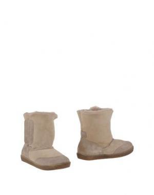 Полусапоги и высокие ботинки FALCOTTO. Цвет: бежевый
