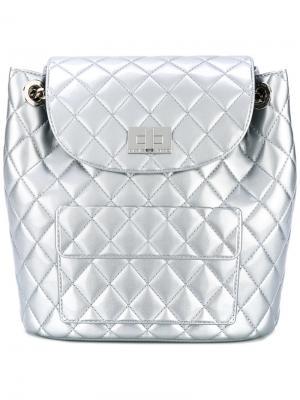 Стеганый рюкзак Designinverso. Цвет: серый