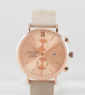 Reclaimed Vintage Часы с хронографом и замшевым ремешком Inspired 40 м. Цвет: белый