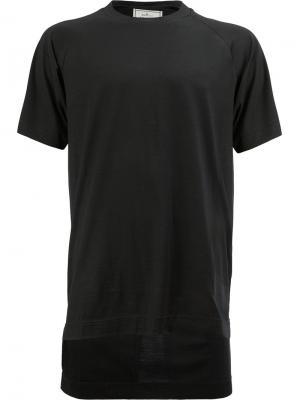Классическая футболка Maison Mihara Yasuhiro. Цвет: чёрный