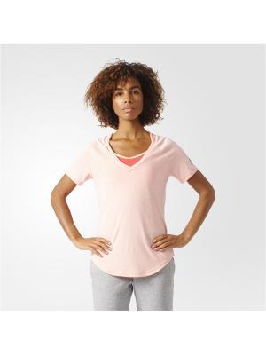 Футболка спортивная жен. IMAGE TEE Adidas. Цвет: персиковый