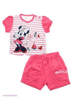 Комплект Disney. Цвет: розовый, белый