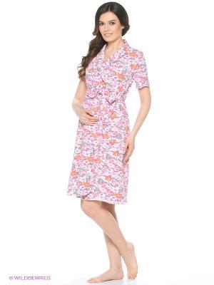 Комплект: халат и сорочка EUROMAMA. Цвет: розовый