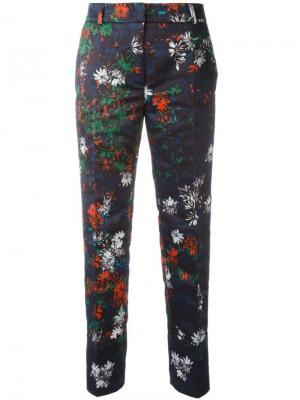 Укороченные брюки с цветочным принтом Cédric Charlier. Цвет: синий