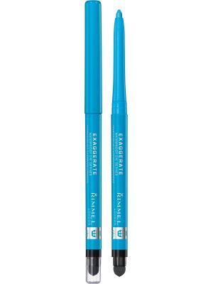 Карандаш Для Глаз Exaggerate Waterproof Eye Definer 240 тон (bright blue) Rimmel. Цвет: голубой