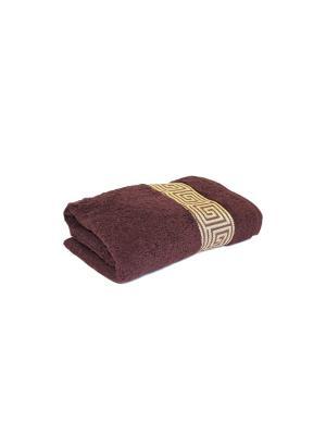 Полотенце махровое PROFFI HOME Классик, 50х100см, шоколадный. Цвет: коричневый