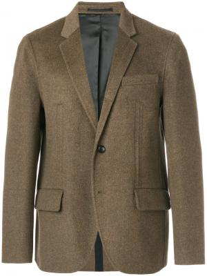 Пиджак с карманами клапанами Joseph. Цвет: коричневый