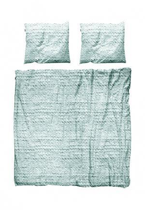 Комплект постельного белья 2-спальный Snurk. Цвет: мятный
