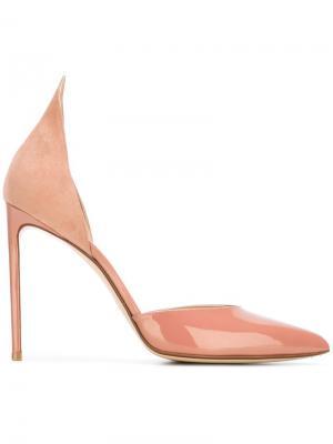 Decollete pumps Francesco Russo. Цвет: розовый и фиолетовый