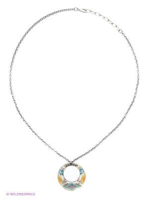 Колье Clara Bijoux. Цвет: бирюзовый, голубой, оранжевый, розовый, желтый, белый