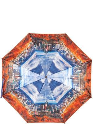 Зонт Eleganzza. Цвет: оранжевый, серый, синий
