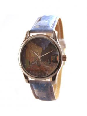 Дизайнерские часы Ван Гог Tina Bolotina. Цвет: синий, голубой, желтый