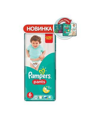 Трусики Pants 16кг+, размер 6, 44 шт. Pampers. Цвет: зеленый