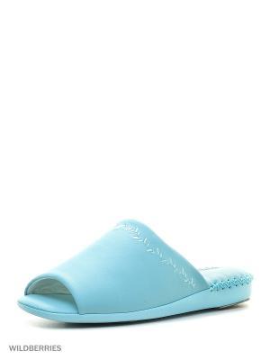 Тапочки Pansy. Цвет: голубой