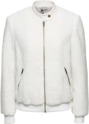 Плюшевая куртка (кремовый) bonprix. Цвет: кремовый