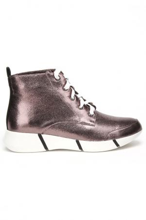 Ботинки CESARE CORRENTI. Цвет: серебристо-коричневый