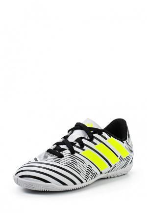 Бутсы зальные adidas Performance. Цвет: белый
