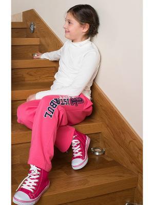 Спортивные брюки WonderKids. Цвет: розовый