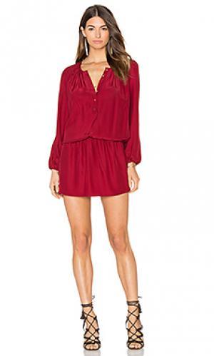 Платье sam Amanda Uprichard. Цвет: красный