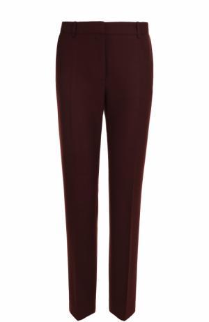 Однотонные брюки прямого кроя со стрелками BOSS. Цвет: бордовый