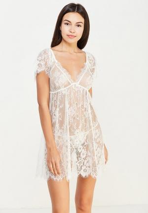 Комплект сорочка ночная и трусы Mia-Amore. Цвет: белый