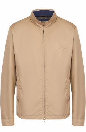 Куртка на молнии с воротником-стойкой Paul&Shark. Цвет: бежевый