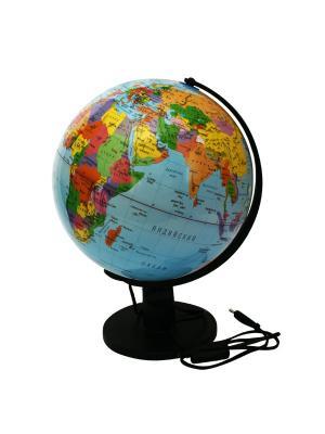 Глобус политический с подсветкой, 32см Rotondo. Цвет: голубой