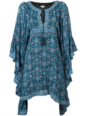 Струящееся платье Maharaja Talitha. Цвет: синий