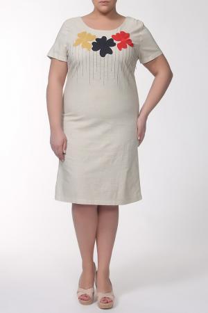 Платье QNEEL Q'NEEL. Цвет: телесный