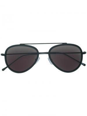 Солнцезащитные очки Dorchester Ace Illesteva. Цвет: чёрный